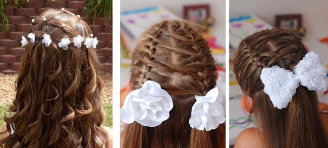 25 идей прически на 1 сентября с бантами, косами и лентами с 2