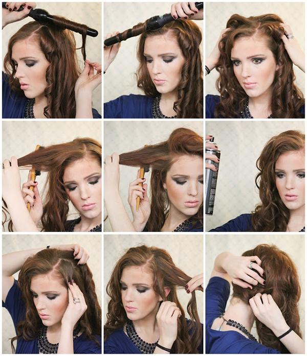 новогодняя укладка длинных волос