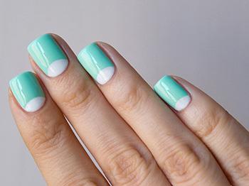 Миндальные ногти дизайн яркий