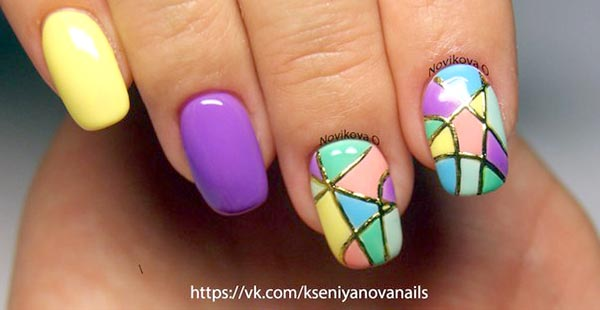 Видео рисунки на ногтях гелем