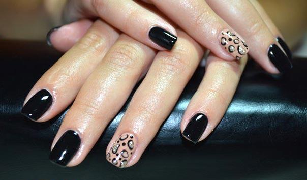 Черный ногти гель лак