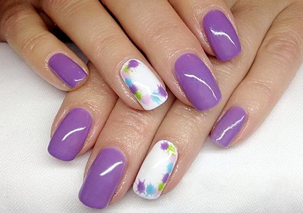 лиловые ногти