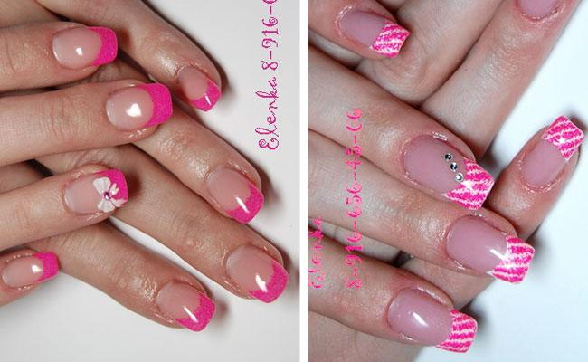 френч розовый с рисунком фото