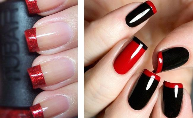 красный лак дизайн ногтей шилак