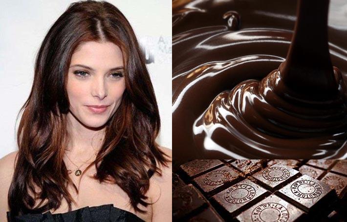 шоколадный цвет волос, красивые фото