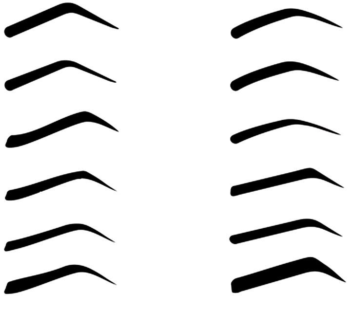 Форма бровей трафарет распечатать
