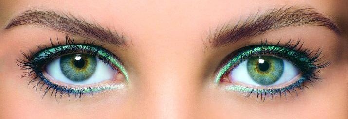 Фото идеального макияжа для зеленых глаз