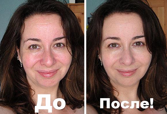 желатин от морщин до и после маски фото