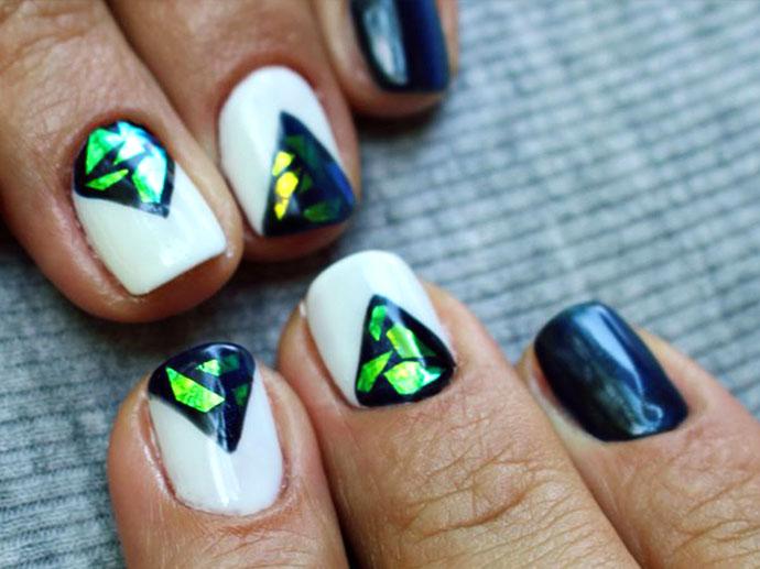 """Идеи дизайна """"Маникюр Битое стекло"""" на ногтях"""