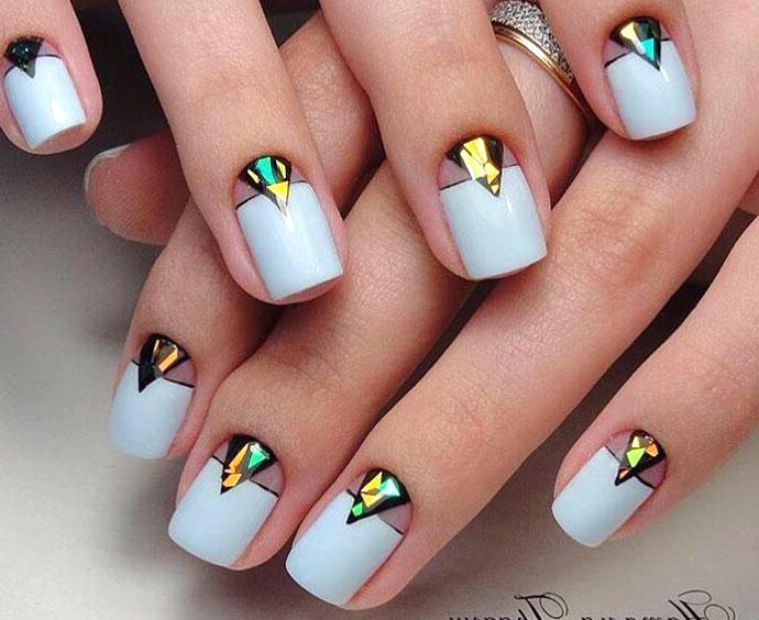 """Модный дизайн """"Битое стекло"""" на ногтях"""