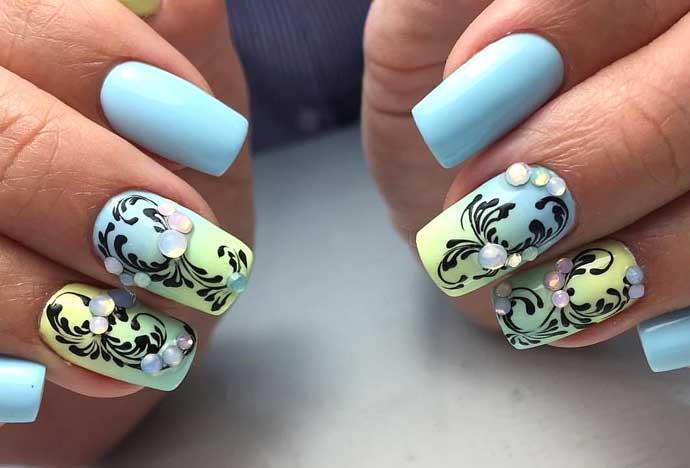 Завитушки на ногтях как рисовать