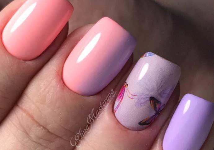 Дизайн ногтей. Лето-омбре